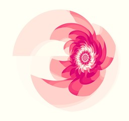 Pink Fractal Flower On Light Background