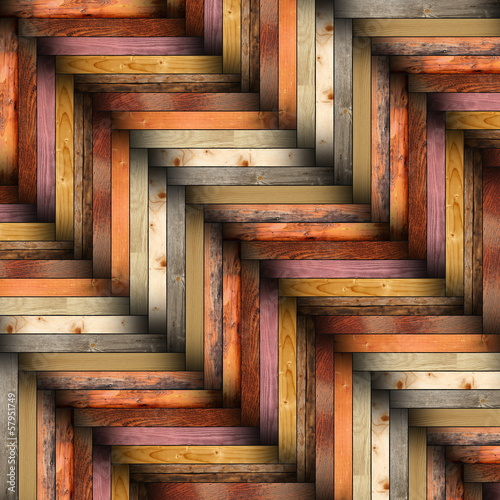colorful wooden tiles on the floor