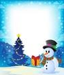 Christmas snowman theme image 2