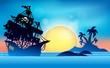Pirate ship near small island 1