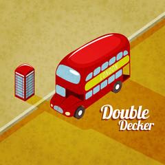 Double decker vector illustration
