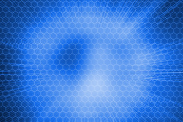 Background with blue hexagons