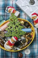 handmade Christmas symbolic toy bear