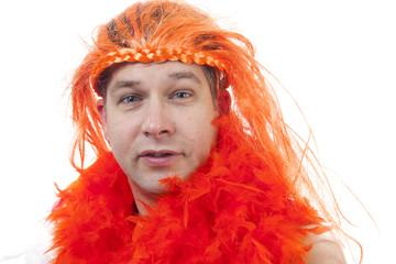 Dutch orange soccer supporter
