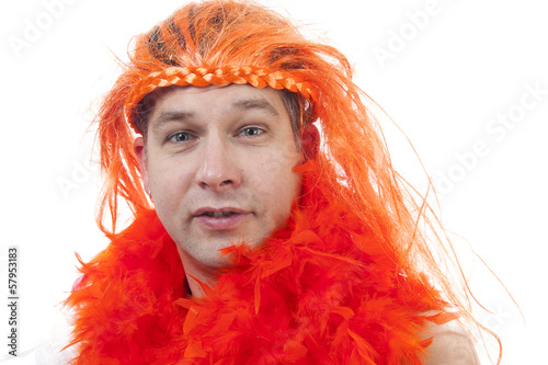 Dutch orange soccer supporter