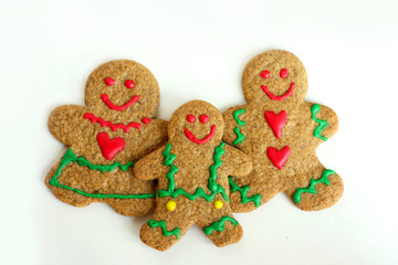 Christmas Gingerbread Family