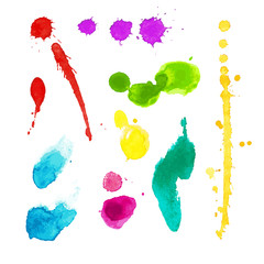 Vibrant watercolor stains