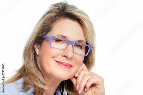 Senior woman with eyeglasses