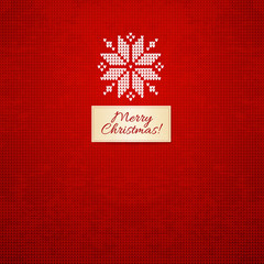 Merry Christmas Scandinavian style  knitted card