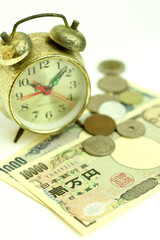 Time is money & The ancient clock and some money
