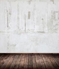Innenraum mit alter Mauer