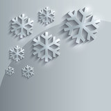 Christmas snowflake glass card paper 3D
