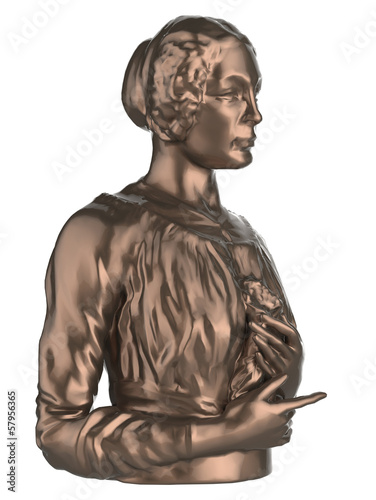 woman bust on a white background