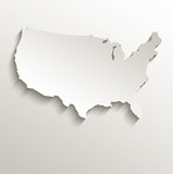 Fototapety USA map card paper 3D natural