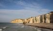 falaises en normandie,blockhaus sur la plage