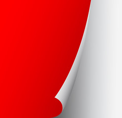 curled up red page abstract background