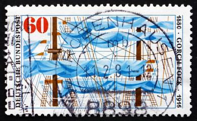 Postage stamp Germany 1980 Ship's Rigging