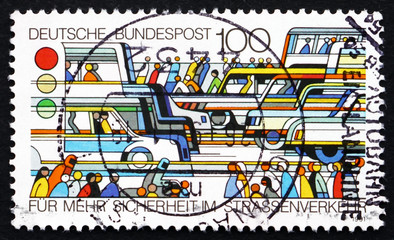 Postage stamp Germany 1991 Traffic Safety