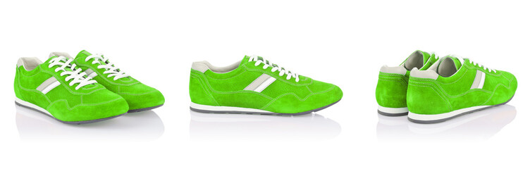 Sport shoes isolated on the white