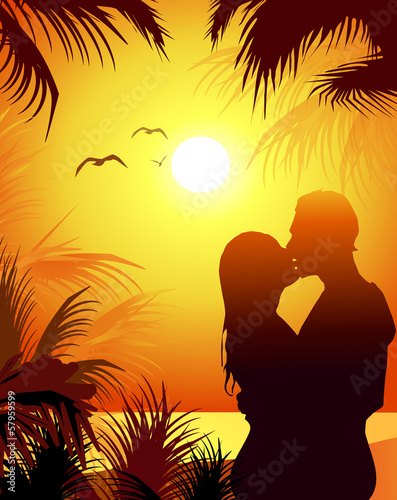 Beach Love and Sunset