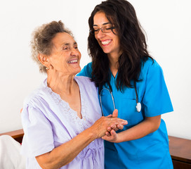 Nurses Caring for Elderly Patients