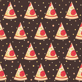 Pattern with pizza
