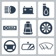 Vector auto parts icons set - 57960523
