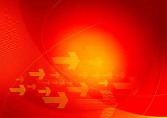 red orange graphic arrows backdrop