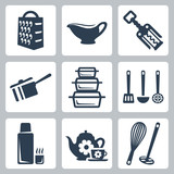 Vector kitchenware icons set