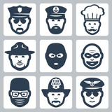 Vector profession icons set