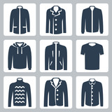 Vector men's clothes icons set