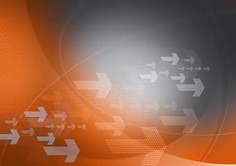grey orange graphic arrows backdrop