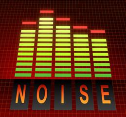 Noise concept.