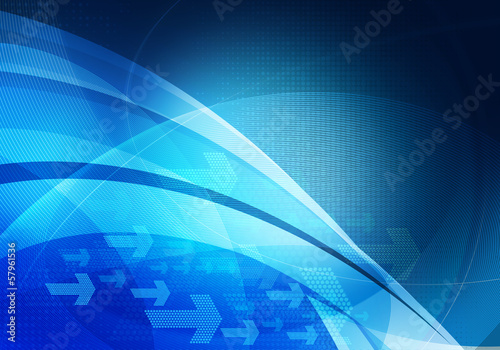 blue graphic arrows background