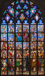 Antwerp - Windowpane of Coronation of hl. Mary in cathedral