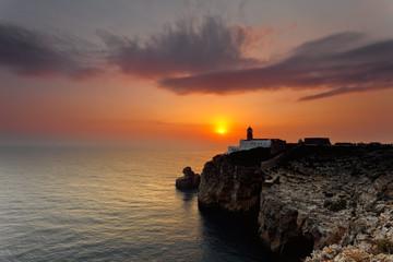 St. Vicente cape lighthouse.Algarve.Portugal.