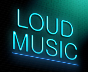 Loud music concept.