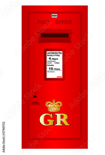 Traditional British  Georges Reign Postbox