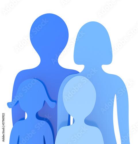 Die kleine blaue Familie
