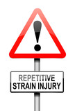 Repetitive strain injury concept. poster