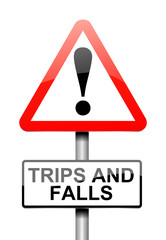 Trip and fall warning.