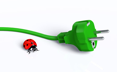 Ecological plug with ladybug