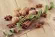 Cinnamon, Walnut, Anise and Nutmeg