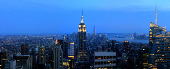 New York Manhattan and Empire State Building night scene