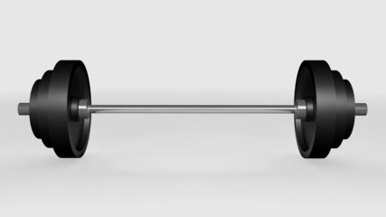 render of weightlifting weights