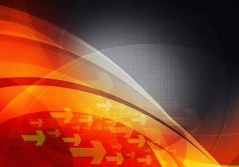 orange black graphic arrows backdrop