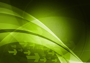 green graphic arrows background