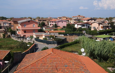 Panorama con tetto spiovente