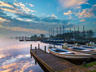 recreational harbor at a lake