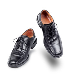 Succesful business shoes dancing